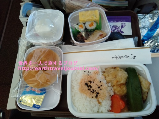 往路の中国東方航空(MU)エコノミー機内食