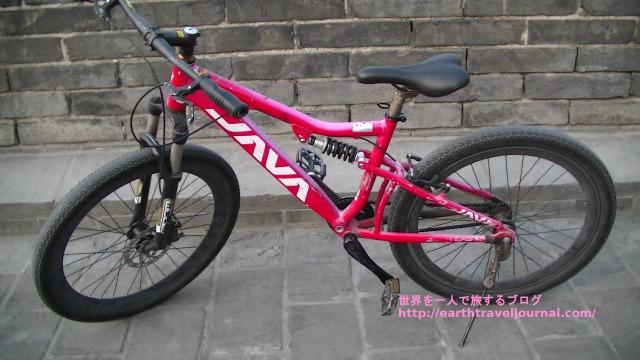西安城壁でレンタルした自転車