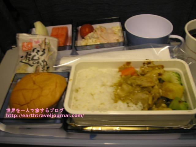 チャイナエアライン(中華航空)のエコノミークラス機内食復路2回目