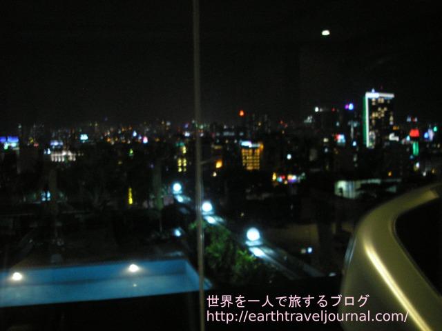 ホーチミン(ベトナム)のおすすめホテル『エデンスター サイゴン ホテル&スパ』のフィットネスからの景色