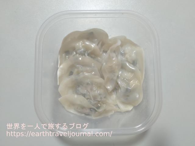 炊飯器で作った蒸し餃子の画像